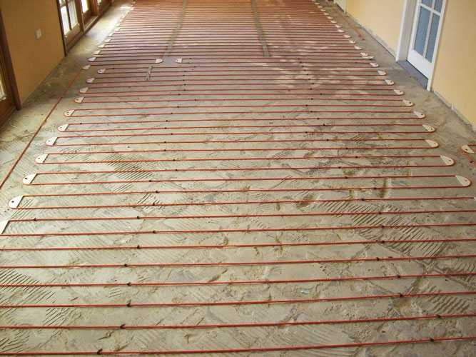 inscreed electric under floor heating hallway