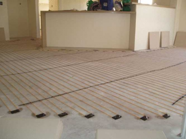 inscreed floor heating living areas