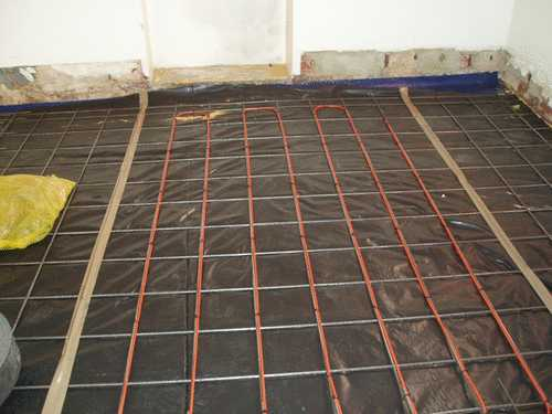 inslab heating for house extension