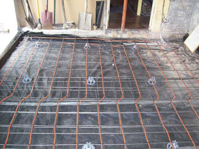 in-slab electric under floor heating