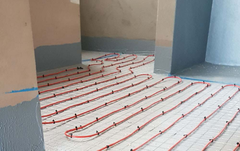 inscreed floor heating
