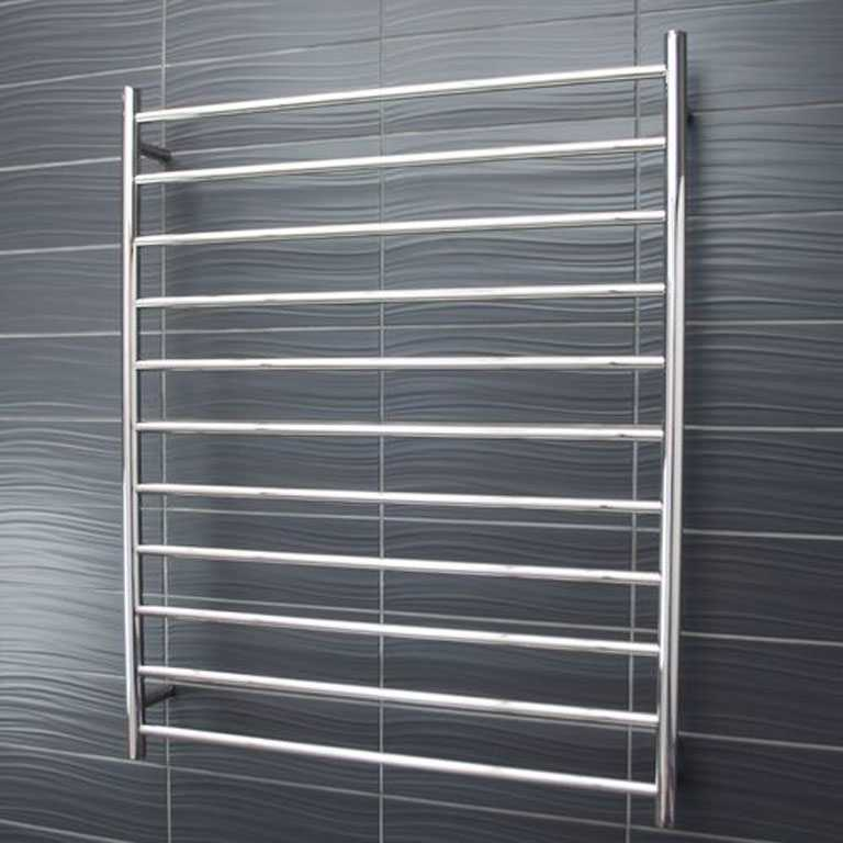 11 bar round heated towel rail RTR05