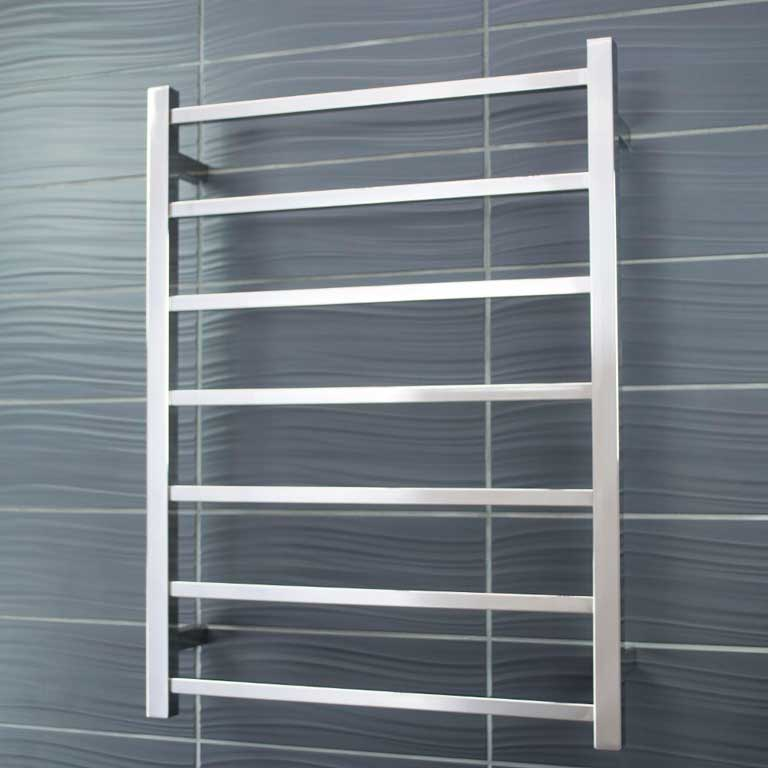 square heated towel rail STR01 7 bar
