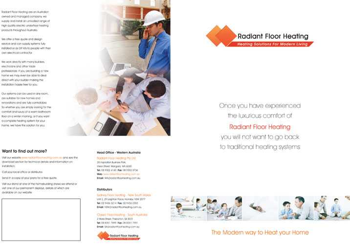 Sydney Floor Heating brochure