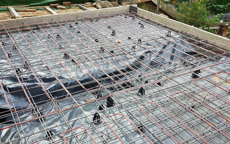 in-slab under floor heating